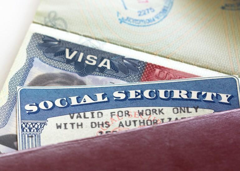 Social-security-card-and-visa
