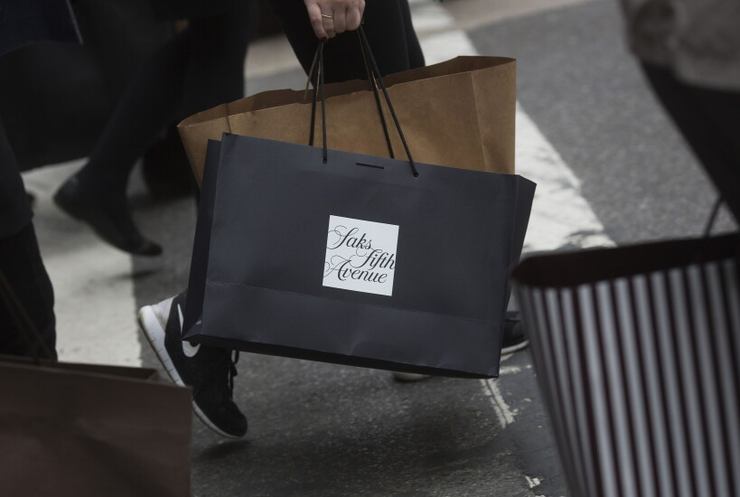 Saks Fifth Avenue shopping bag