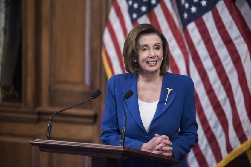 """""""We want to demonstrate that we do care for the American people in every way,"""" House Speaker Nancy Pelosi said of the passage of the Coronavirus Aid, Relief, and Economic Security, or CARES."""