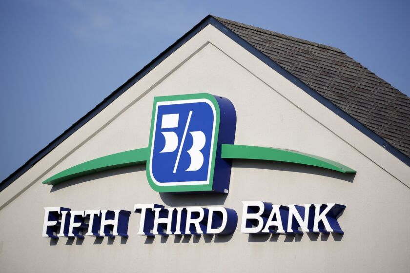 Fifth Third Bank will be closing its offices at 2 p.m. Friday.