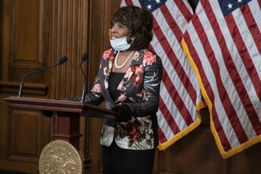 """The new Acting Comptroller is transparently pandering to President Trump, who has made clear that he would prefer that we all pretend that there is no pandemic,"" said Rep. Maxine Waters, D-Calif."