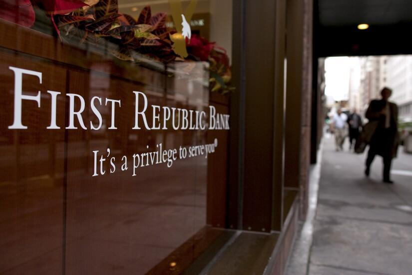 First Republic bank logo Bloomberg News