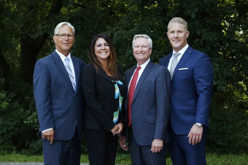 Jim Mattson, Abby Dority, John Falldin, and James Mattson of the Falldin-Mattson team join Ameriprise in Minnesota.