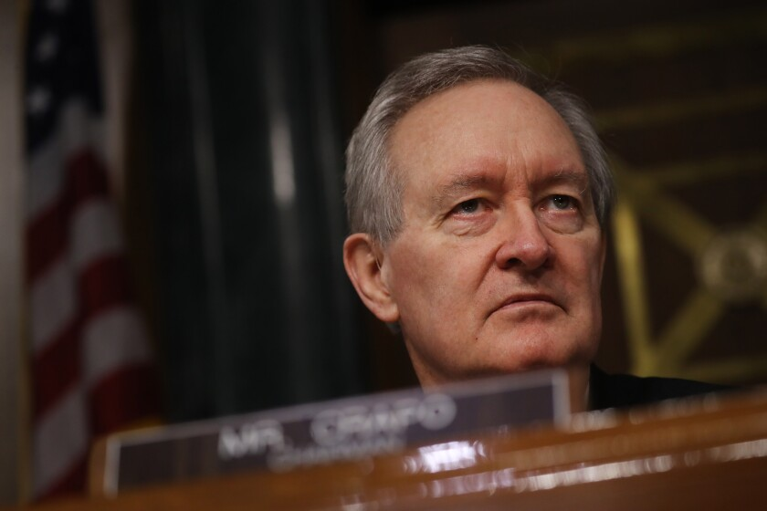 """Confirming the SIGPR nominee and announcing the chair and members of the Congressional Oversight Commission is critical to the setting up and functioning of these important oversight bodies,"" said Sen. Mike Crapo, R-Idaho."