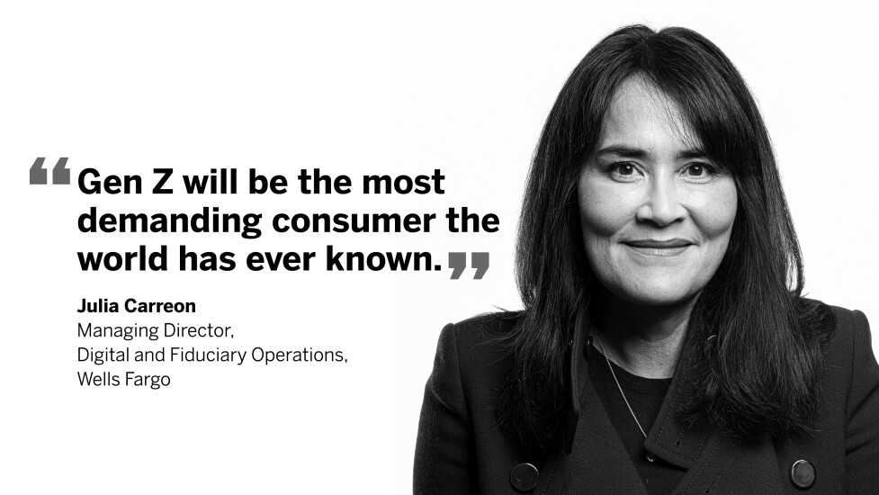 Julia Carreon, managing director, digital and fiduciary operations, Wells Fargo