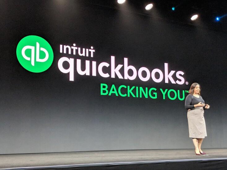 Intuit's Ariege Misherghi speaking at QuickBooks Connect