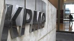 KPMG logo on wall