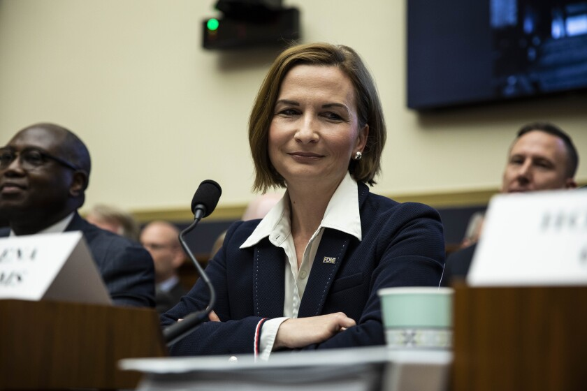 "In a speech last year, FDIC Chair Jelena McWilliams said digital ""advances will allow the FDIC to use a new regulatory approach to supervision, powered by the same technology that is revolutionizing the banks we supervise."""