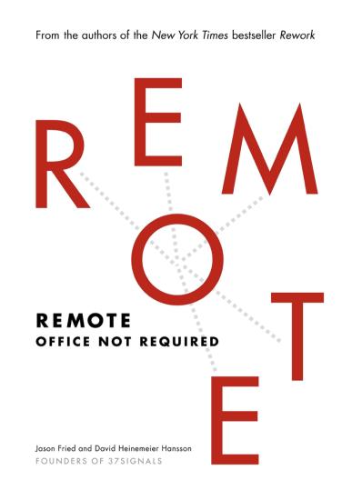 Remote - Jason Fried and David Heinemeier Hansson