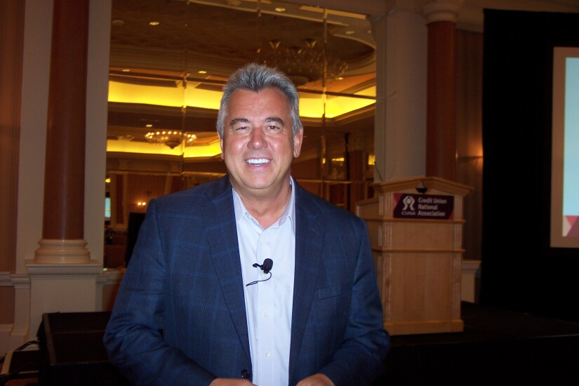 Mark Sievewright, founder and CEO of Sievewright and Associates, pictured during the 2017 CUNA's America's Credit Union Conference.