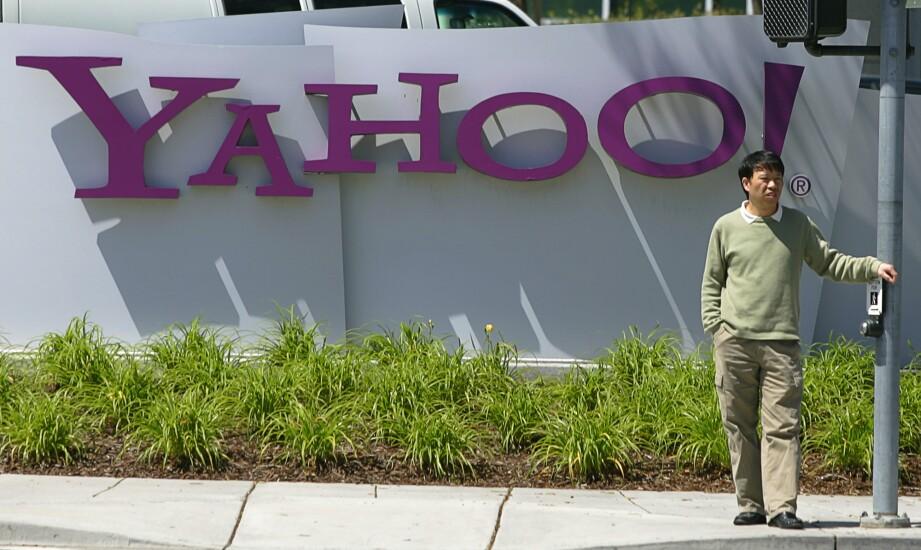 Yahoo logo and sign