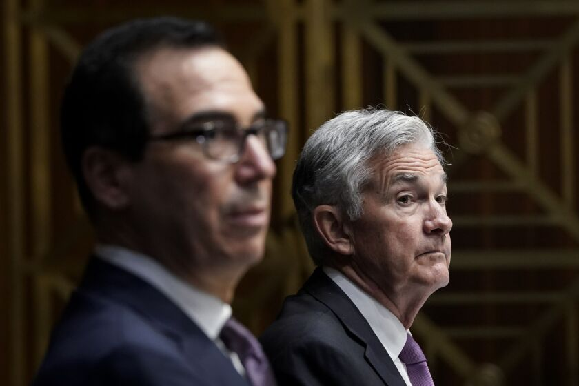 Fed Chairman Jerome Powell urged Treasury Secretary Steve Mnuchin to consider using other funds held by Treasury to reauthorize at least some of the emergency loan programs that will expire Dec. 31.