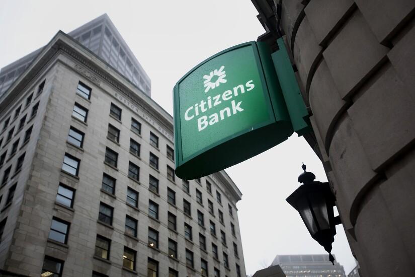 Citizens Bank signage.