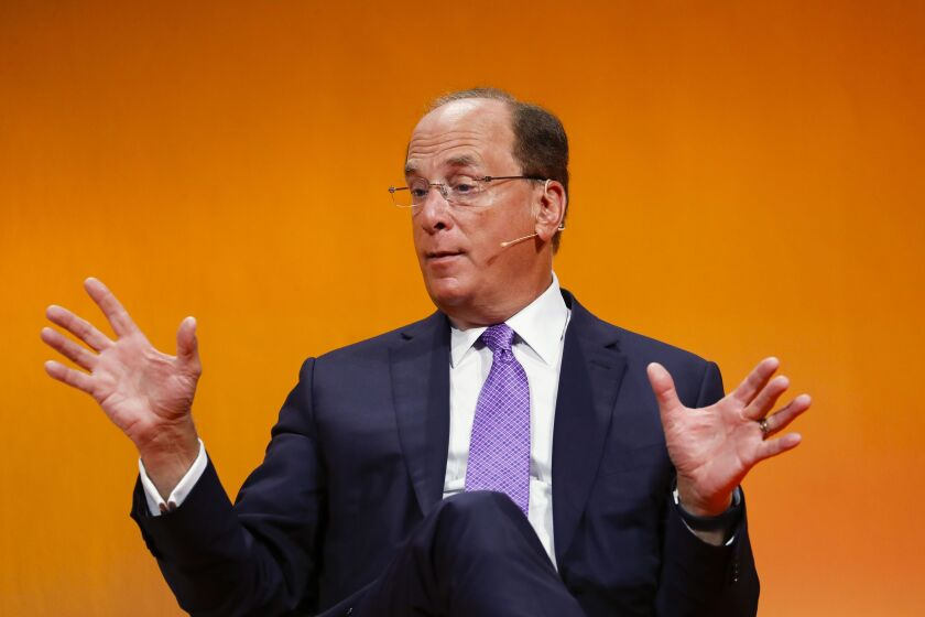 """I do believe jobs are going to be slower coming back than other people believe,"" said BlackRock CEO Larry Fink."