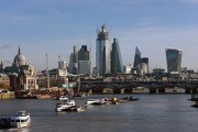 The skyline of the City of London