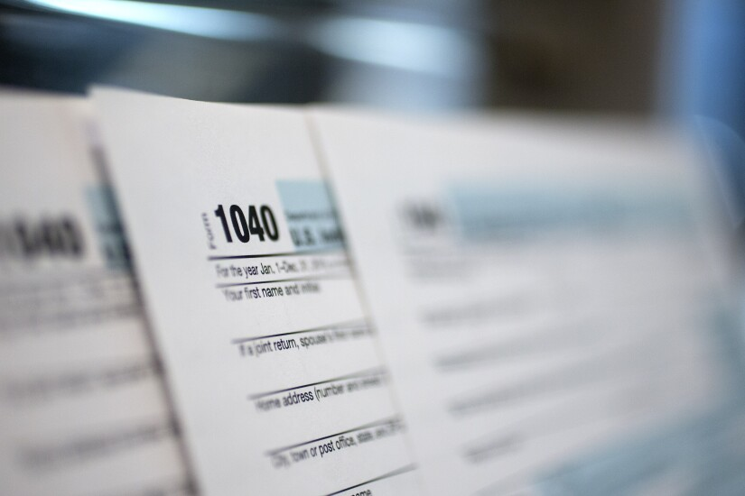 Tax 1040 form by Bloomberg News