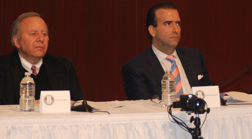 Jose Ramon Gonzalez, Jose Carrion, and Ana Matasantos of Puerto Rico Oversight Board