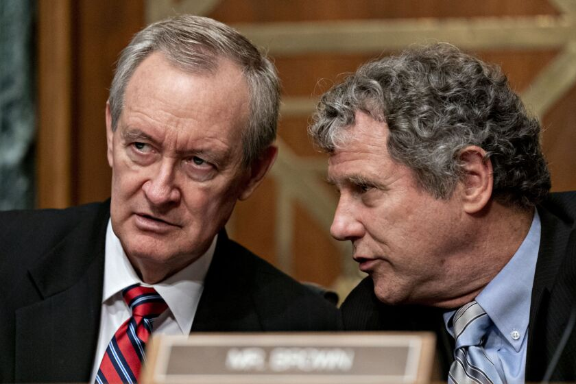 Support from Senate Banking Committee Chairman Mike Crapo, R-Idaho, and Sen. Sherrod Brown of Ohio, the panel's top Democrat, is seen as a boost for advancing the beneficial ownership measure during conference talks.