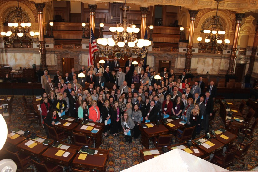 A record crowd of 191 Kansas credit union advocates shared these priorities and credit union successes with lawmakers during Credit Union Day at the Capitol  in Topeka on February 15.