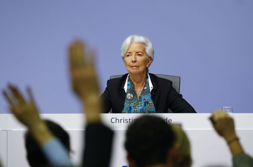 Christine Lagarde, the president of the European Central Bank