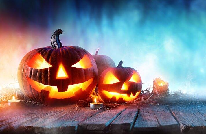 Halloween pumpkins, adobe