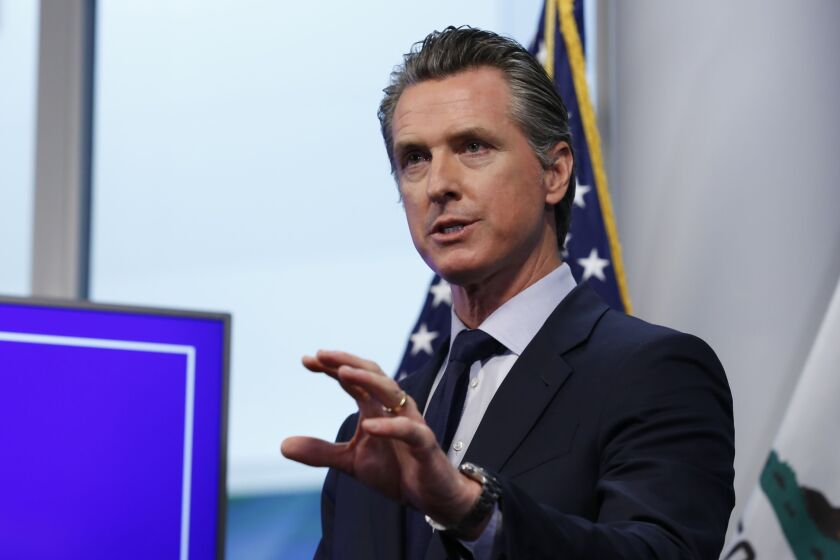 Gov. Gavin Newsom proposed the creation of the Department of Financial Protection and Innovation, or DFPI, to be housed within the existing Department of Business Oversight.
