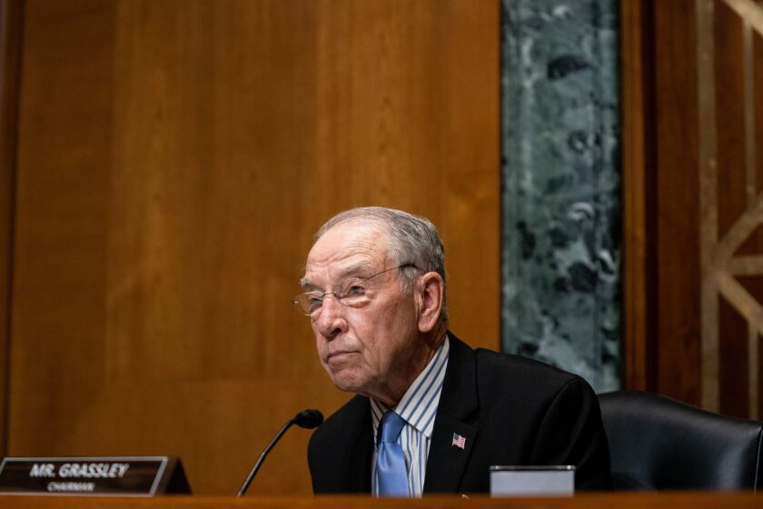 """The bill introduced by Sens. Chuck Grassley, R-Iowa, Tim Scott, R-S.C., Sherrod Brown, D-Ohio, and Ron Wyden, D-Ore., would bar private collectors from garnishing the """"recovery rebates"""" that were provided to consumers through the CARES Act."""