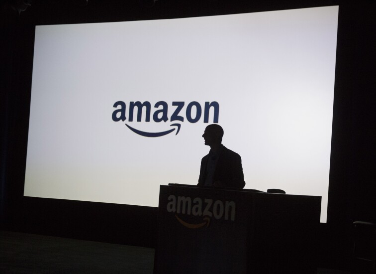 Amazon CEO Jeff Bezos silhouette