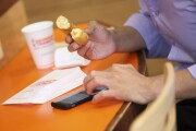 Dunkin Donutes and mobile phone