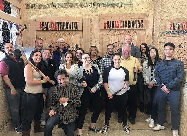 2018 Best Firms - Whipplewood Axe throwing
