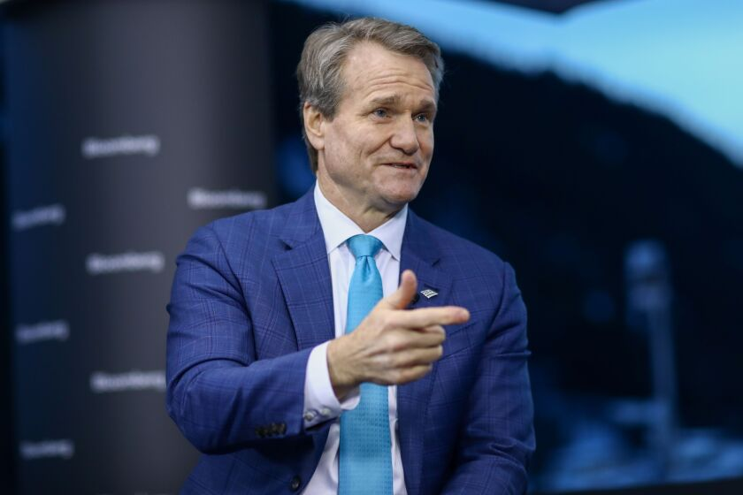 """If you borrow with another bank, please, go back and work with them,"" BofA CEO Brian Moynihan said Friday."
