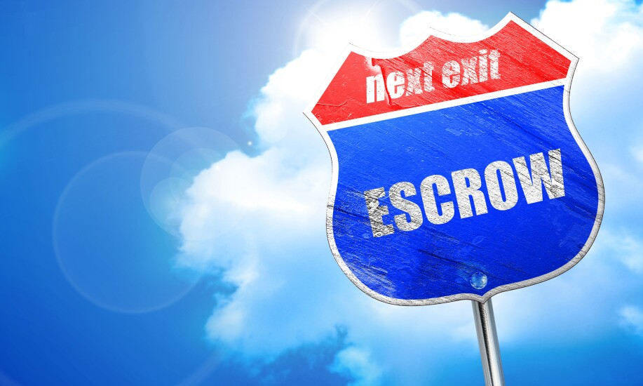 """Highway sign saying, """"next exit, ESCROW."""""""