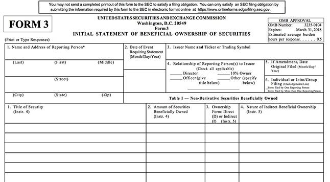 SEC Form 3