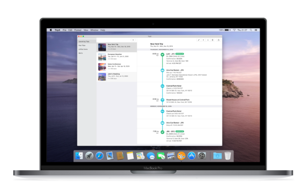 Concur TripIt app for Mac