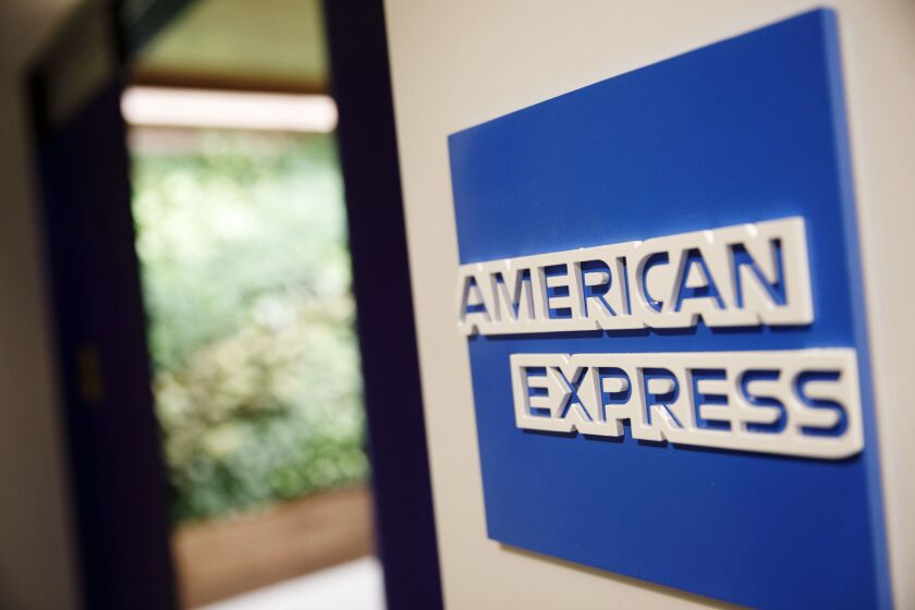 American Express is among the consumer lenders Fitch said could see loan volumes decline and defaults rise this year.