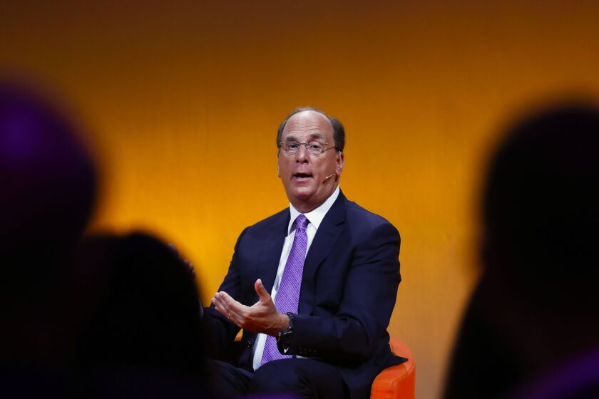 """""""I do believe it's going to continue to bring opportunities for us,"""" CEO Larry Fink said on an earnings call on Thursday, referring to BlackRock's government assignments."""