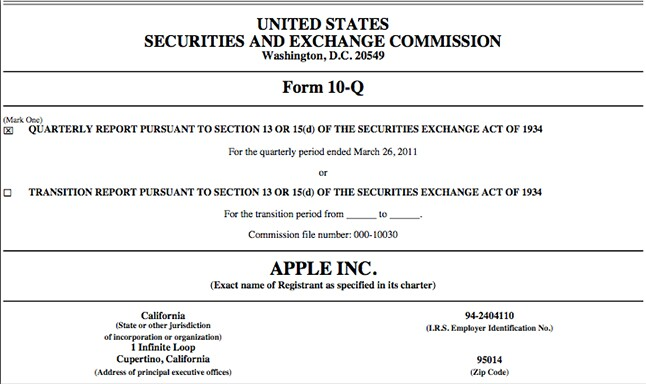 SEC 10-Q