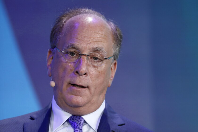 """""""If there is a societal view that there's too much power rested on these few companies, then we could find a solution to mitigate that risk,"""" said BlackRock CEO Larry Fink."""