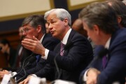 JPMorgan Chase CEO Jamie Dimon with Citigroup CEO Michael Corbat and Bank of America CEO Brian Moynihan