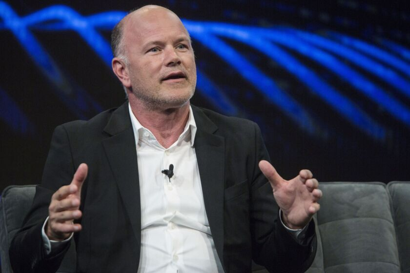 Crypto billionaire investor Michael Novogratz speaks at an investment conference in New York in 2018.