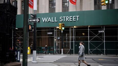 Broadway near the New York Stock Exchange