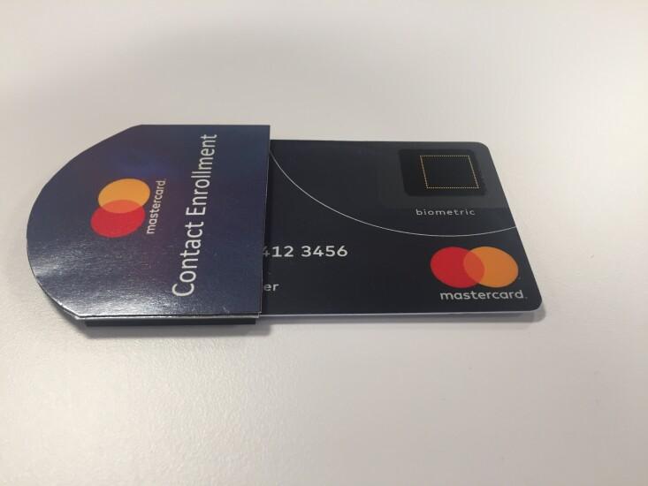 Mastercard fingerprint enrollment sleeve