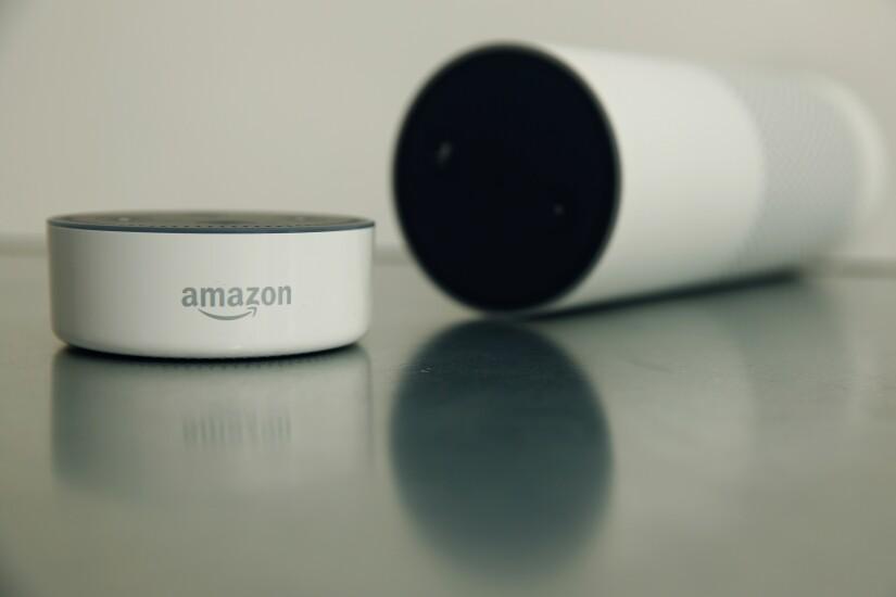 Amazon Echo Dot and Echo speaker
