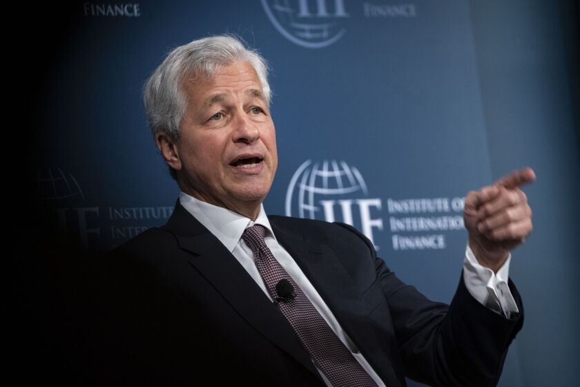 """""""Think of it as a long-term play,"""" JPMorgan Chase CEO Jamie Dimon said, referring to the company's decision to offer retail banking services in the U.K. """"If it works, then we'll think about other things we could do with that."""""""