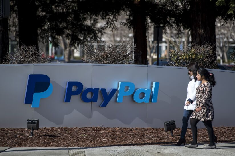 PayPal campus sign