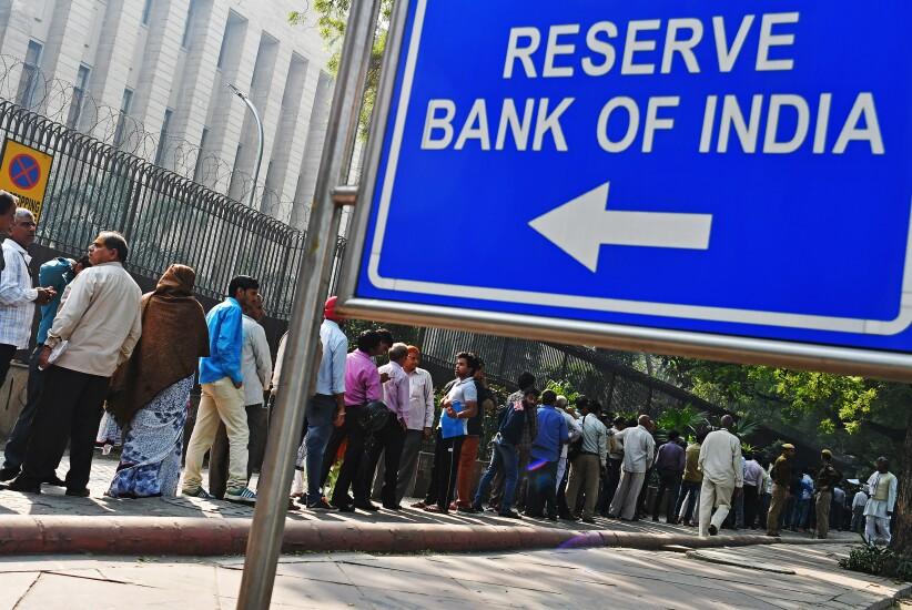 reserve bank of india, cash crisis