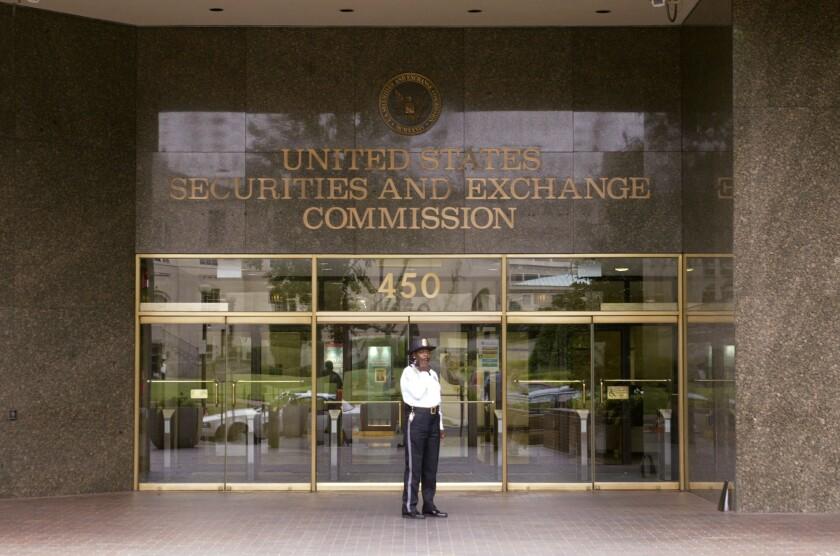 SEC entrance - Bloomberg News