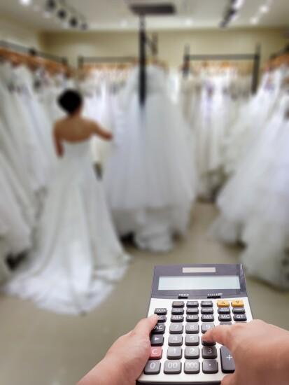 Bride and calculator