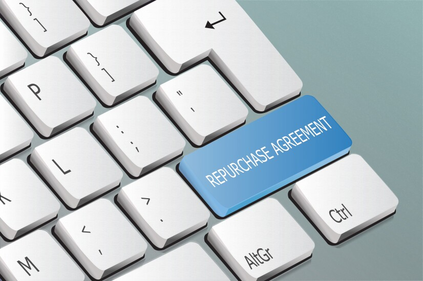 repurchase agreement written on the keyboard button