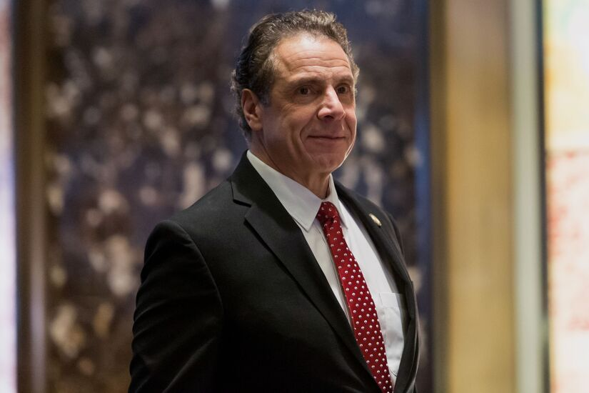 NY Governor Andrew Cuomo arrives for meeting with President-elect Trump at Trump Tower